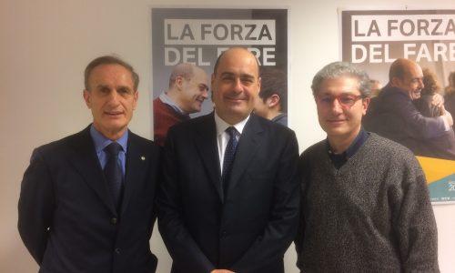 """La lettera del governatore del Lazio, Nicola Zingaretti, a """"Forche Caudine"""" (2018)"""