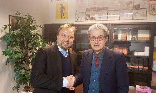 """Fabrizio Santori (FdI) visita la sede di """"Forche Caudine"""""""