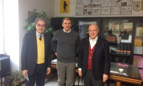 """Il consigliere della Regione Lazio, Marco Vincenzi, nella sede di """"Forche Caudine"""""""