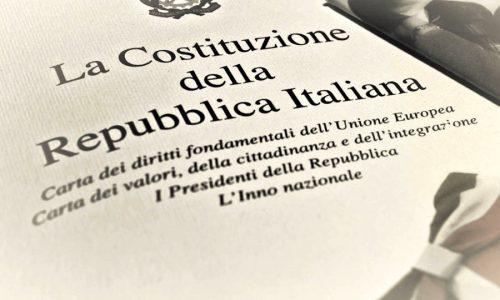 Sardine e Costituzione per un futuro migliore