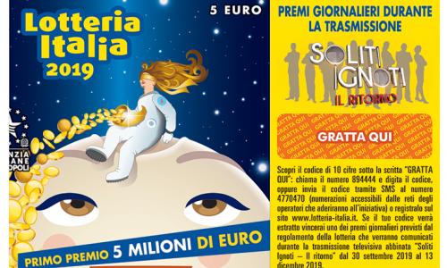 Lotteria Italia, incassi stabili rispetto al 2018