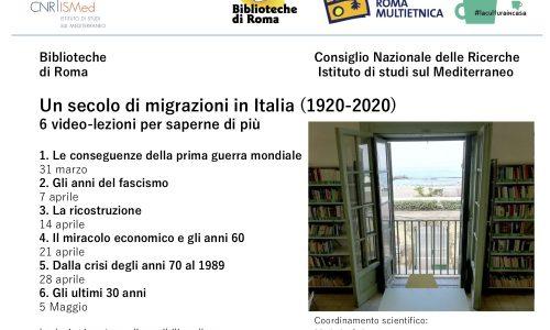 Roma, un ciclo sulle migrazioni in Italia