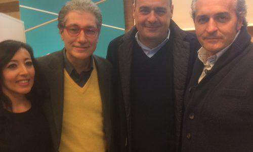 """Nicola Zingaretti con i vertici di """"Forche Caudine"""""""