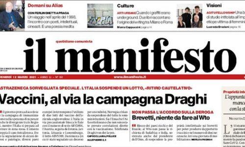 """Il titolo del quotidiano Il Manifesto: """"Il Molise corre verso il baratro"""""""