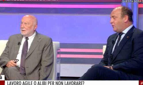 Smart working: il sociologo molisano De Masi contro Ruggieri (Forza Italia) ad Agorà