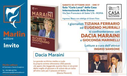 L'Alfabeto quotidiano di Dacia Maraini e Gioconda Marinelli