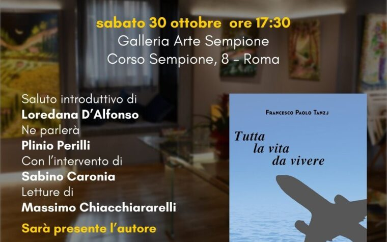 A Roma il romanzo di Francesco Paolo Tanzj
